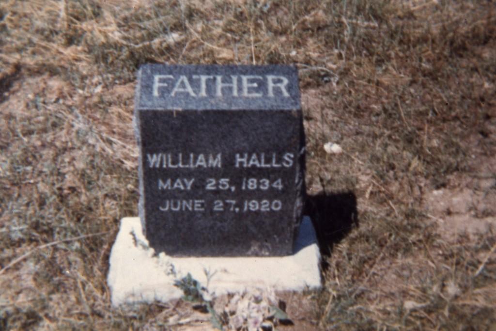 William Halls Tombstone, Webber Pioneer Cemetery, Mancos, Colo.